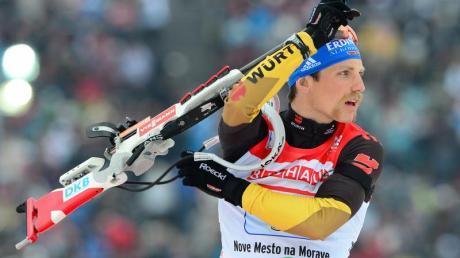 Erik Lesser zeigte beim letzten Schießen Nerven. Foto: Martin Schutt
