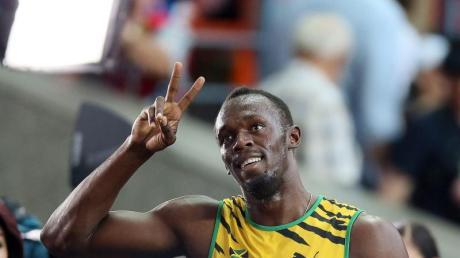 Usain Bolt hat seinen Vorlauf ganz cool und lässig absolviert.