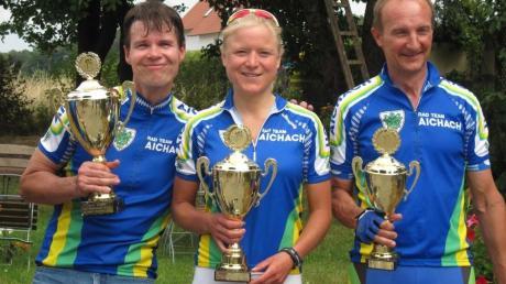 Sie haben sich bei der Team-Meistschaft durchgesetzt: (von links) Michael Schultz, Kathrin Wörle und Albert Hamberger.
