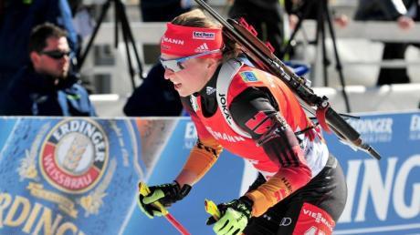 Franziska Hildebrand läuft in der deutschen Mixed-Staffel.