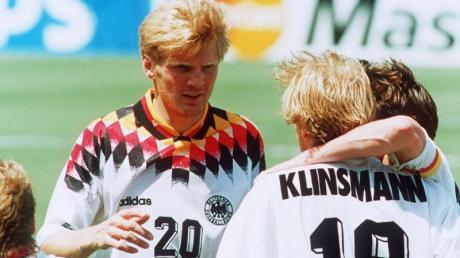 Effenberg (M.) flog 1994 während der WM wegen des «Stinkefinger»-Skandals aus der Nationalmannschaft.