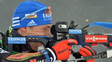 Simon Schempp wurde als bester deutscher Biathlet Sechster beim Sprint in Pokljuka.