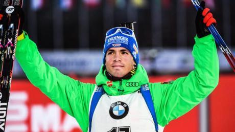 Simon Schempp war mit Platz vier und seiner Leistung zufrieden.