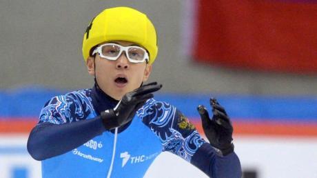 Fehlt bei Olympia: Der russischer Shorttracker Viktor Ahn. Foto: Thomas Eisenhuth