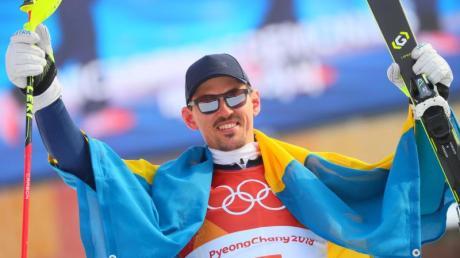 Der 35 Jahre alte Schede Andre Myhrer hat den Slalom gewonnen. Foto:Michael Kappeler