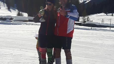 Kathrin Reich und Manfred Reuß sind die Vereinsmeister bei der DJK Leitershofen.