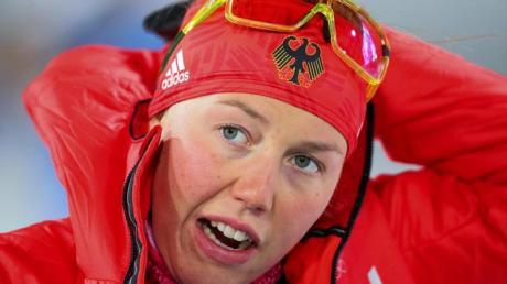 Laura Dahlmeier hat noch die Chance, den Gesamtweltcup zu gewinnen. Foto:Michael Kappeler