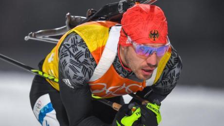 Hat beim vorletzten Weltcup der Saison in Oslo das Podest im Blick: Biathlet Arnd Peiffer. Foto: Hendrik Schmidt