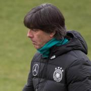 Bundestrainer Joachim Löw bereitet sein Team auf das Testspiel gegen Spanien vor. Foto: Federico Gambarini