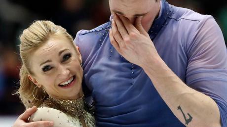 Olympiasieger und jetzt auch Weltmeister. Aljona Savchenko und Bruno Massot.