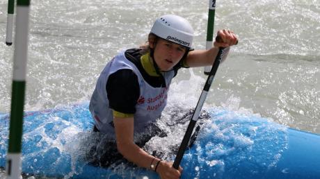 Anne Bernert aus Friedberg kam in Meran im Canadier Einer der Damen auf den sechsten Platz.