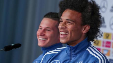Leroy Sané (rechts) möchte in der DFB-Elf endlich durchstarten.