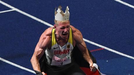 Arthur Abele im Sommer bei der Leichtathletik-EM in Berlin.