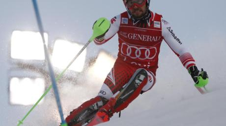 Marcel Hirscher gewann den Slalom in Levi. Foto: Gabriele Facciotti/AP