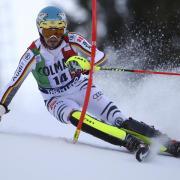 Holte Rang acht beim Slalom-Klassiker in Madonna die Campiglio: Felix Neureuther. Foto: Alessandro Trovati/AP