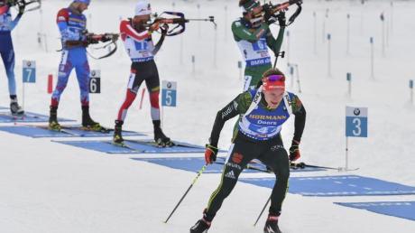 Benedikt Doll geht heute in Oberhof mit der Biathlon-Staffel der Männer an den Start.
