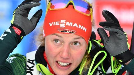 Laura Dahlmeier wird zum deutschen Biathlon-Team in Ruhpolding gehören.