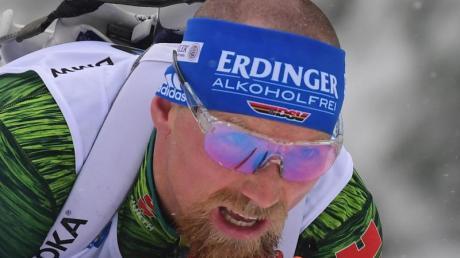 Erik Lesser läuft im Einzel beim Weltcup im kanadischen Canmore auf Rang acht.