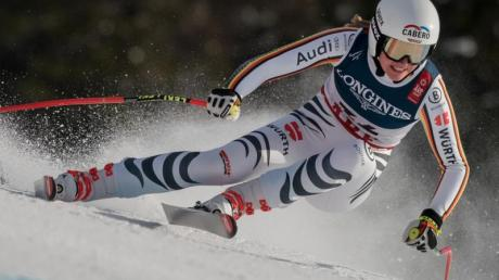 Bei der Kombination der Damen ist Meike Pfister die einzige deutsche Starterin.