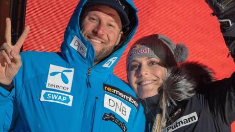 """Über ein """"märchenhaftes Karriereende"""" freuen sich Aksel Svindal und Lindsey Vonn. Der Schwede holte zum Abschluss noch eine WM-Silbermedaille, die Amerikanerin Bronze."""