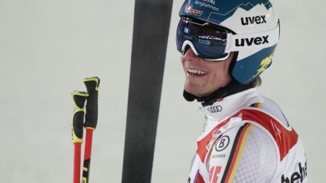 Freut sich über seinen achten Platz im WM-Riesenslalom: Alexander Schmid.