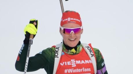 Denise Herrmann hat die WM-Generalprobe im us-amerikanischen Soldier Hollow gewonnen. Foto: Sven Hoppe