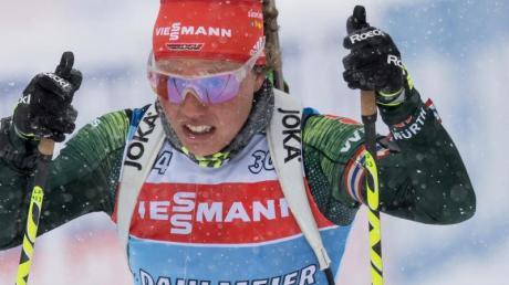 Ist bei der Biathlon-WM in Östersund gefordert:Laura Dahlmeier.