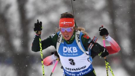 Laura Dahlmeier will ihren WM-Titel im Einzelrennen verteidigen.