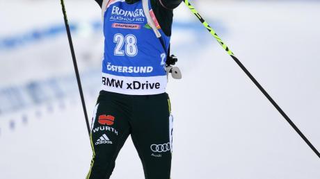 Laura Dahlmeier kämpfte und zog einen beherzten Schlussspurt an – es sollte nicht reichen. Am Ende wurde es der vierte Platz für sie.