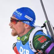 Erik Lesser und Verfolgungs-Weltmeisterin Denise Herrmann kämpfen bei der Single-Mixed-Staffel um eine Medaille. Foto: Sven Hoppe
