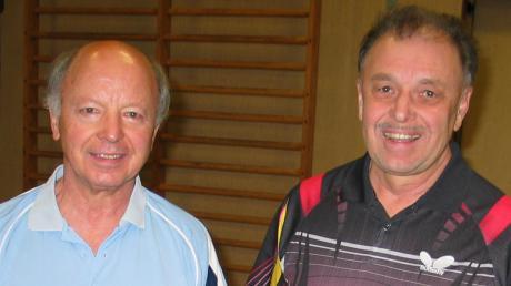 Dieter Gerhardinger (links) und Gerhard Lucke vertraten die Tischtennisfreunde Bad Wörishofen bei der bayerischen Seniorenmeisterschaft.