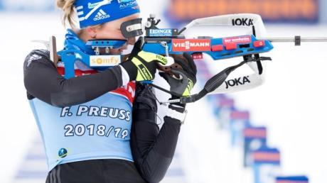 Wurde in Oslovergangenes Jahr Zweite: Franziska Preuß. Die Biathlon-Wettkämpfe in Oslo 2020 wurden abgesagt.