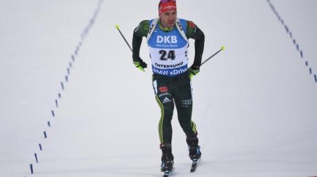 Arnd Peiffer landete nach einem Schießfehler auf Platz drei. Foto:Sven Hoppe