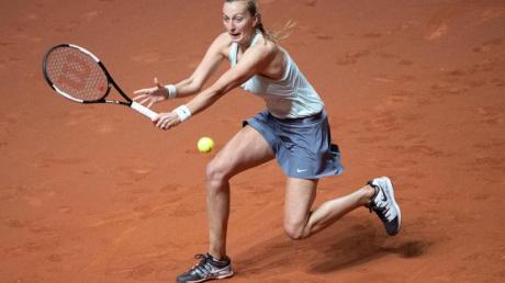 Petra Kvitova trifft im Finale des WTA-Tennisturniers von Stuttgart auf die Estin Anett Kontaveit. Foto: Marijan Murat