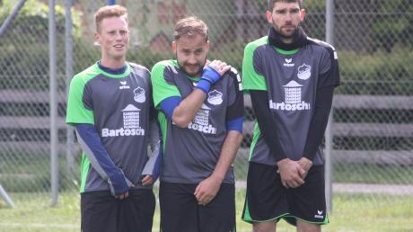 Die Westendorfer Fabian Schmidt, David Carrera Fernandez und Alexander Storzer (von links) standen beim Derby in Nordendorf zusammen und ließen wenig zu.