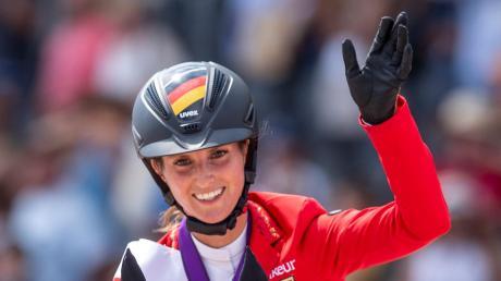 Die Weltmeisterin: Simone Blum gewann auf Alice Gold bei den Titelkämpfen 2018 in Tryon (USA). Jetzt startet sie beim Turnier in Edelstetten.