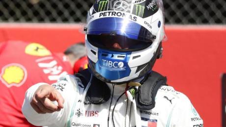 Mercedes-Pilot Valtteri Bottas startet beim Großen Preis von Spanien von der Pole Position. Foto: Manu Fernandez/AP
