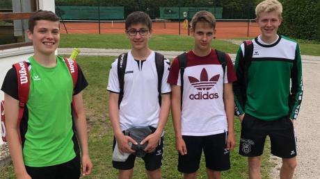 Die Knaben U16 des TSV Kühbach sind bisher ungeschlagen und liegen auf dem dritten Platz der Bezirksklasse 1: (von links) Elias Stegmann, Jakob Mayr, Benedikt Sagstetter und Michael Kraus.