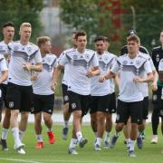 Das deutsche U21-Team beim Training in Fagagna. Foto: Cézaro De Luca
