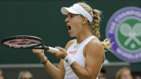 Steht in Wimbledon in der zweiten Runde: Angelique Kerber. Foto: Ben Curtis/AP