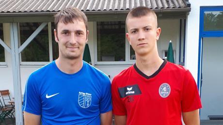 Dominik Tamm (links) und Matteo Komm verstärken Kreisligist SpVgg Ellzee.