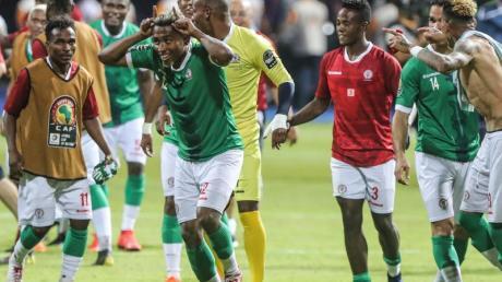 Die Spieler aus Madagaskar verblüffen bisher beim Afrika-Cup.