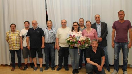 Der neue und alte Vorstand der Kreiskegelvereine.