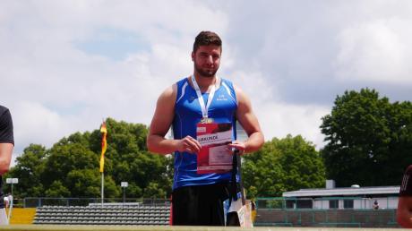 Markus Kosok durfte sich nach längerer Wettkampfpause prompt über den bayerischen Meistertitel freuen.