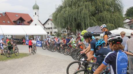 Am Dorfplatz in Wengen erfolgt bereits zum siebten Mal der Startschuss zur Mountainbike-Europameisterschaft.