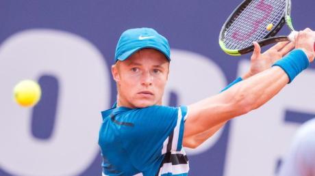 Talent Rudolf Molleker hat beim Tennisturnier in Hamburg das Achtelfinale erreicht.