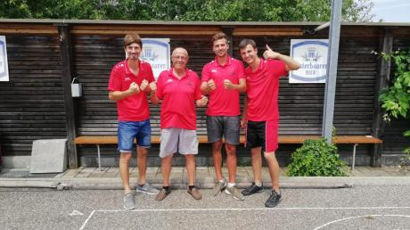 Sie waren als Dritter das Überraschungsteam des Unterbaar-Cup des SV Ottmaring: Das Team Ottmaring II mit Sebastian Gail, Roman Mayer, Matthias Gail und Valentin Gail (von links).
