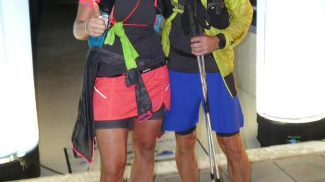 100 Kilometer in 18:40 Stunden: Nicole Fischer und Matthias Stelzle.