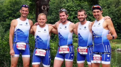 Das Viktoria-Team mit (v. l.) Olaf Borsutzky, Thomas Knodt, Stefan Lang, Christoph Feldner und Alexander Klimek hält die Klasse.