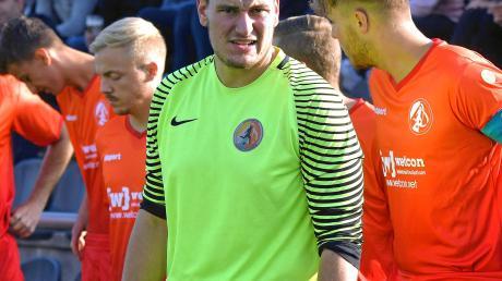 Aufheims Torwart David Schied beim Pokalspiel gegen Obenhausen.